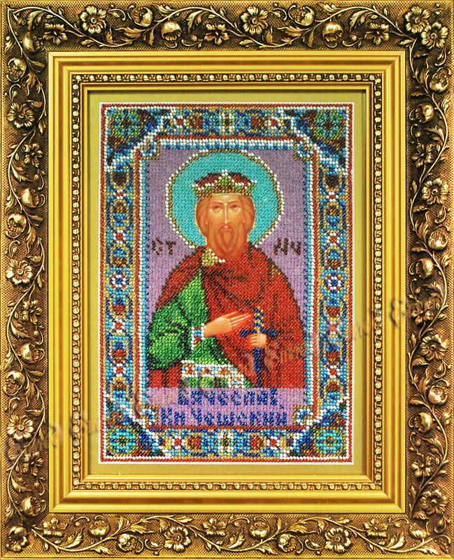 Святой вячеслав икона бисером