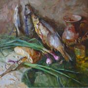 Смирнов А. натюрморт cс рыбойх.м. 70х80 (РВ 239)