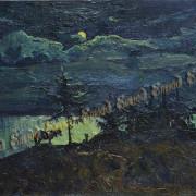 Дудченко М.А. Луна 55х90 х.м. 2014г.
